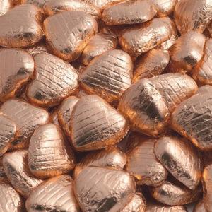 Chokladhjärtan i Kopparfärgad Folie