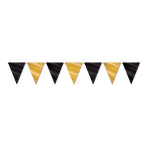 Flaggirlang Svart/Guld