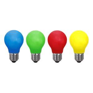 Lampa E27 LED - Röd