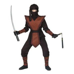 Ninja Jumpsuit Barn Maskeraddräkt - Large