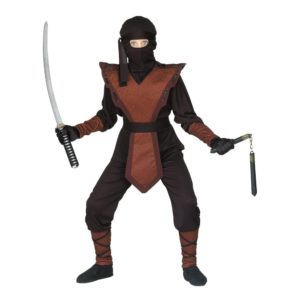 Ninja Jumpsuit Barn Maskeraddräkt - Medium