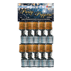 Partypoppers Guld/Silver - 20-pack Silver/Guld