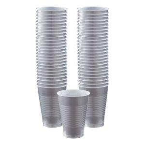 Plastmuggar Silver - 50-pack 355 ml