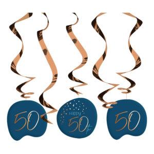 Swirls Happy 50th True Blue - 5-pack