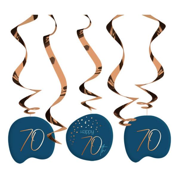 Swirls Happy 70th True Blue - 5-pack