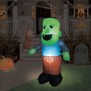Uppblåsbar Zombie med Ljus