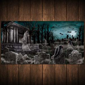 Väggdekoration Kyrkogård