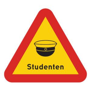 Varningsskylt Studenten