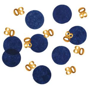 80-års Konfetti Mörkblå & Guld