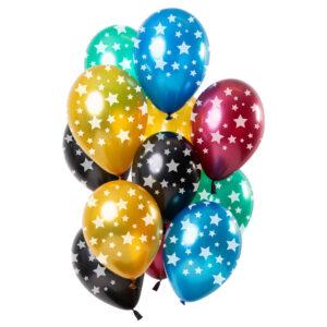 Ballonger med Stjärnor Metallic Mix