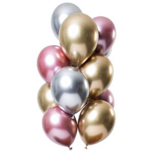 Chrome Mirror Ballonger Guld-Silver-Rosa