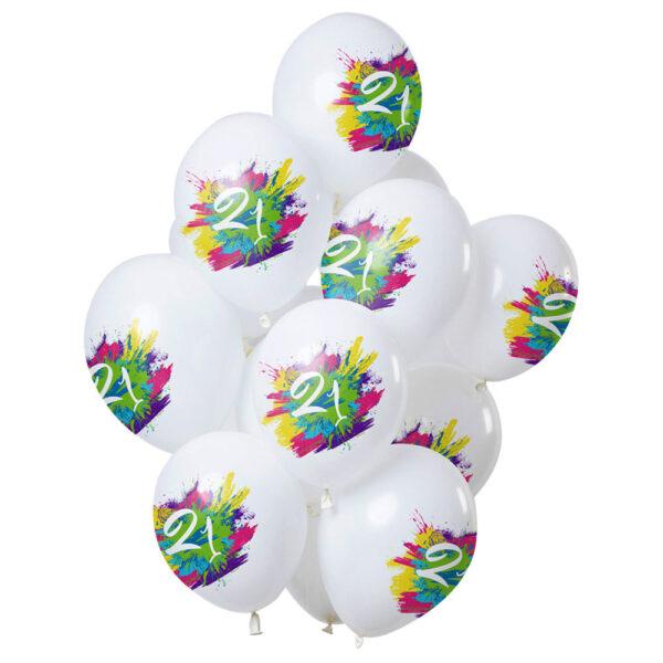 Color Splash 21-års Ballonger Latex