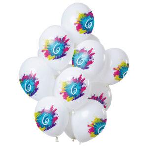 Color Splash 6-års Ballonger Latex