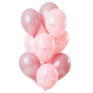 Happy 30th Ballonger Ljusrosa & Rosa