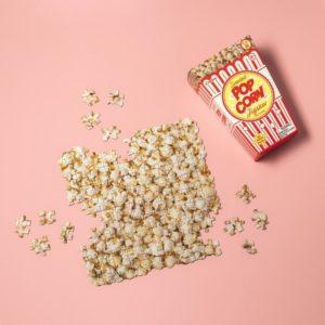Popcorn Pussel med Lukt