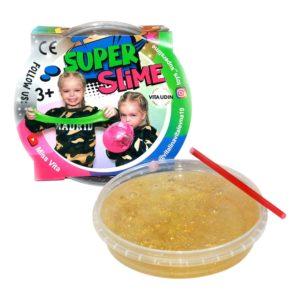 Super Slime - Guld/glitter