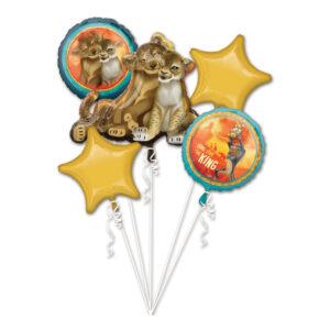 Ballongbukett Lejonkungen - 5-pack