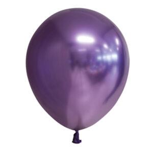 Chrome Miniballonger Mörklila 100-pack