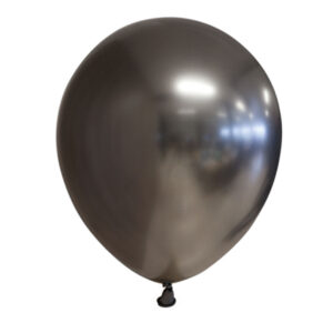 Chrome Miniballonger Metall Grå 100-pack