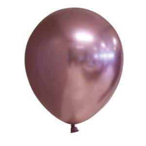 Chrome Miniballonger Roséguld 100-pack