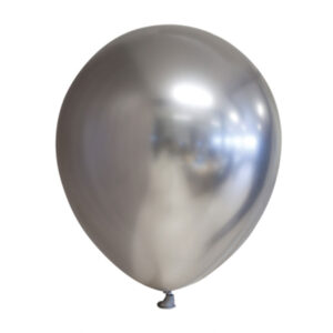 Chrome Miniballonger Silver 100-pack