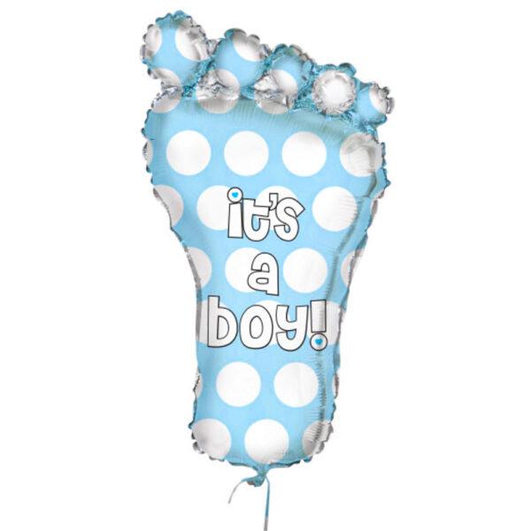 It's A Boy Ballong Ljusblå & Silver