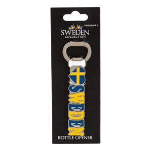 Souvenir Kapsylöppnare Magnet Sweden