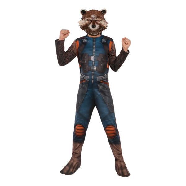 Avengers 4 Rocket Raccoon Barn Maskeraddräkt - Small