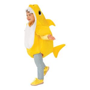 Baby Shark Gul Barn Maskeraddräkt - 6-12 månader