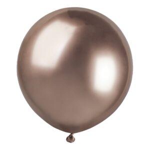 Ballonger Krom Roséguld Stora - 10-pack