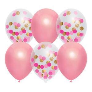 Ballonger Prinsess Rosa Mix