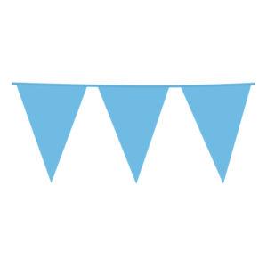 Flaggirlang Babyblå - 10 meter