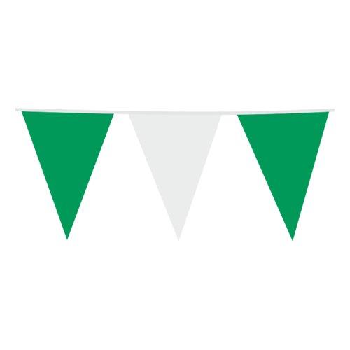 Flaggirlang Grön/Vit - 3m x 10 x 15 cm
