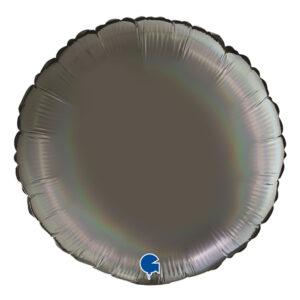 Folieballong Grå Rainbow Holographic - 1-pack