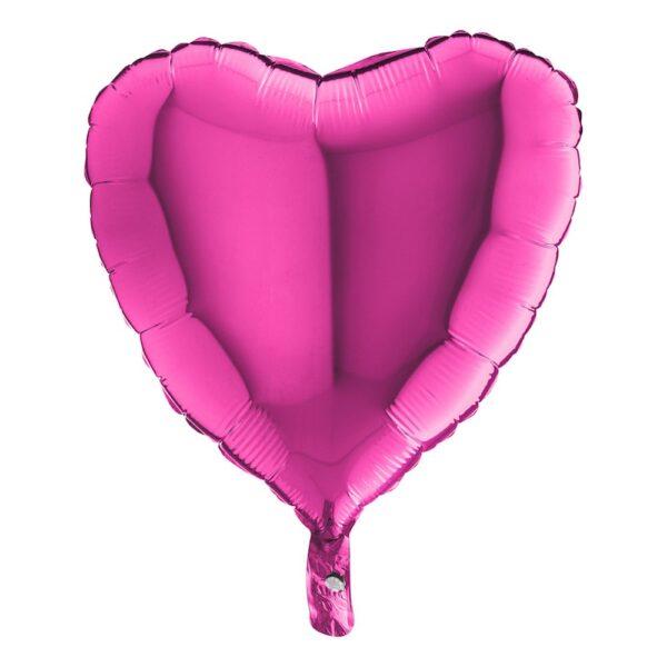 Folieballong Hjärta Magenta - 1-pack
