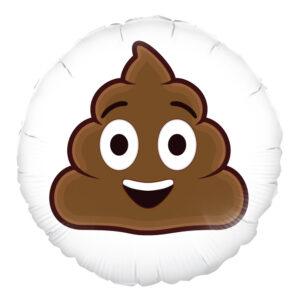 Folieballong Smiling Poop Emoji - 1-pack