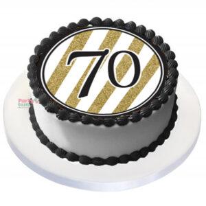 Tårtbild 70 år