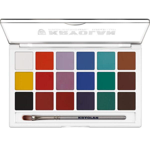 Aquacolor palett 18 färger