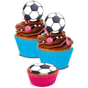 Ätbara Sockerdekorationer Fotboll
