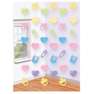 Babyshower dekoration på snöre - 6 st