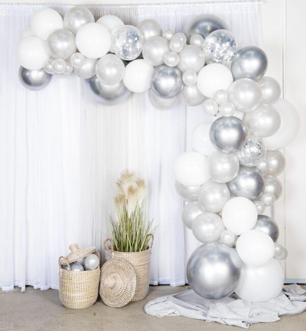 Ballongbåge Silver/Krom