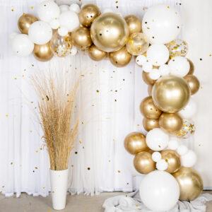 Ballongbåge Guld/Krom