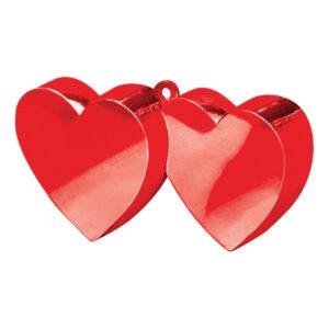 Ballongvikt Dubbla Hjärtan Röd