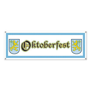 Banderoll Oktoberfest Vit