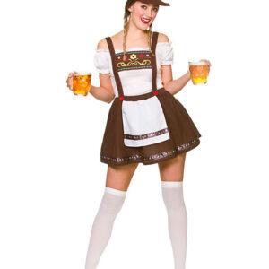 Beer Maid Oktoberfest Dräkt (X-Small (Strl. 34-36))