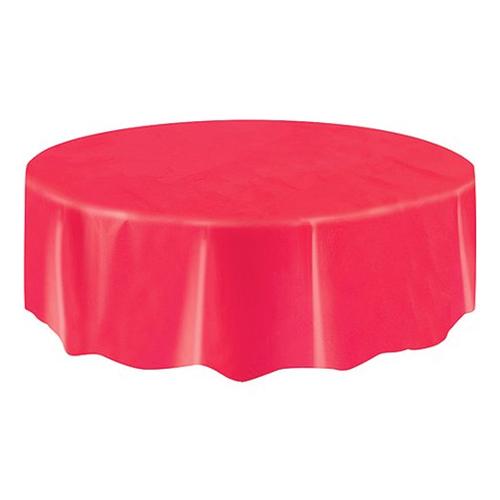 Bordsduk Röd Rund