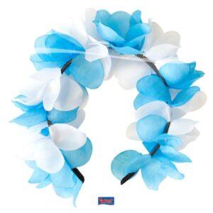 Diadem blommor blå/vit