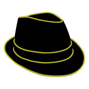 El Wire LED Hatt - Gul