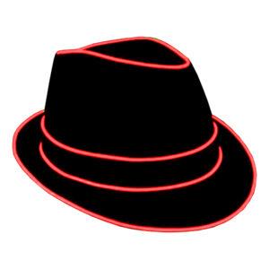 El Wire LED Hatt - Röd