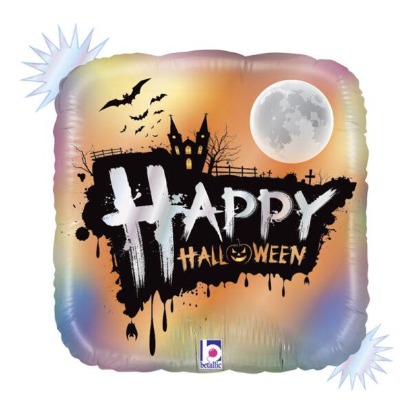 Folieballong Happy Halloween Fyrkantig - 1-pack